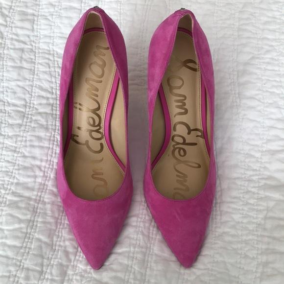 6d35ceb93f3 Sam Edelman Hazel Heel Hot Pink 8.5